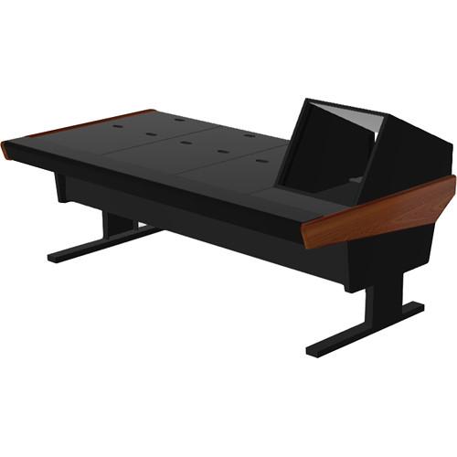 "Argosy V1R Universal Workstation Desk with VR1005 10U Front, 5U Rear Module (Mahogany, 89.5"")"