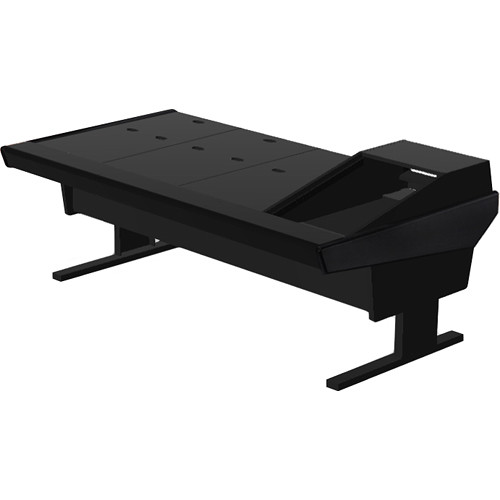 "Argosy V1R Universal Workstation Desk with VR1503 15U Upper, 3U Rear Module (Black, 89.5"")"