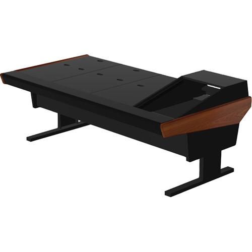 "Argosy V1R Universal Workstation Desk with VR1503 15U Upper, 3U Rear Module (Mahogany, 89.5"")"