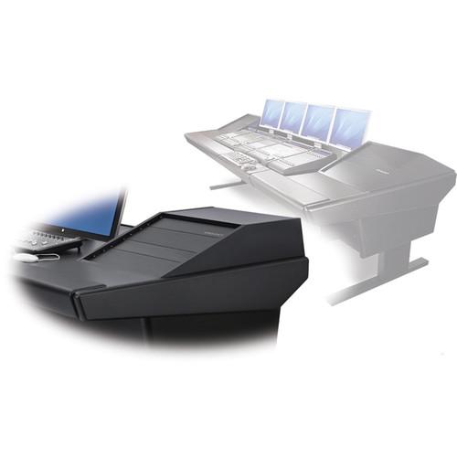 "Argosy V2RG Universal Workstation Desk with Two VR1003 10U Front, 3U Rear Module (Black, 119"")"