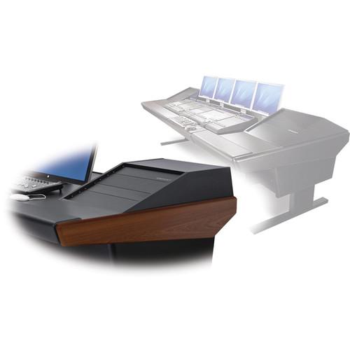 "Argosy V2RG Universal Workstation Desk with Two VR1003 10U Front, 3U Rear Module (Mahogany, 119"")"