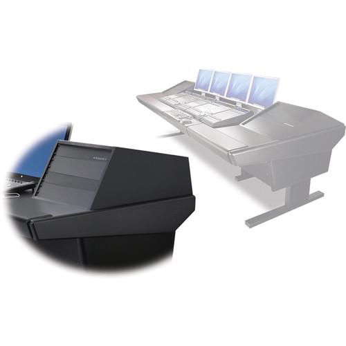 "Argosy V2RG Universal Workstation Desk with Two VR1005 10U Front, 5U Rear Module (Black, 119"")"
