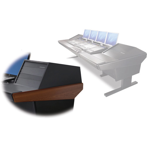 "Argosy V2RG Universal Workstation Desk with Two VR1005 10U Front, 5U Rear Module (Mahogany, 119"")"