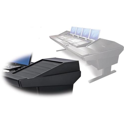 """Argosy V2RG Universal Workstation Desk with Two VR1503 15U Upper, 3U Rear Module (Black, 119"""")"""