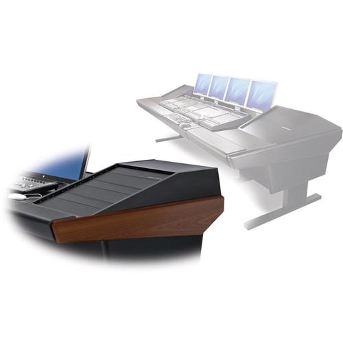 "Argosy V2RG Universal Workstation Desk with Two VR1503 15U Upper, 3U Rear Module (Mahogany, 119"")"