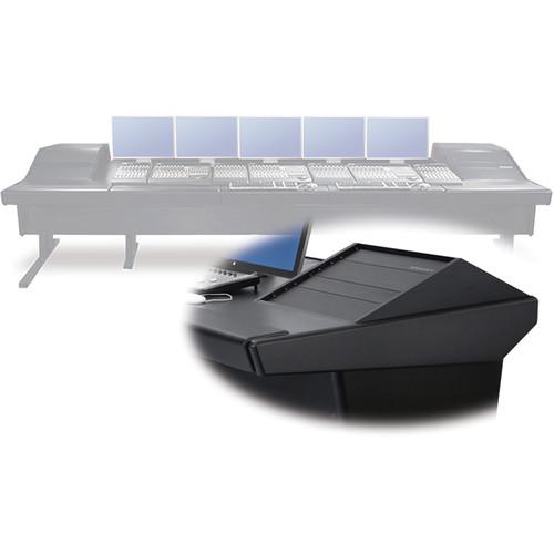 "Argosy V2RGE Universal Workstation Desk with Two VR1000 10 Upper Rack Module (Black, 148.5"")"