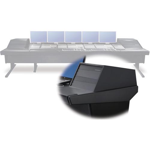 "Argosy V2RGE Universal Workstation Desk with Two VR1005 10 Front Rack Module (Black, 148.5"")"