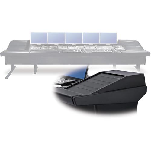 "Argosy V2RGE Universal Workstation Desk with Two VR1503 15U Upper, 3U Rear Module (Black, 148.5"")"