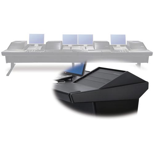 "Argosy V4RGE Universal Workstation Desk with Four VR1000 10 Upper Rack Module (Black, 179"")"