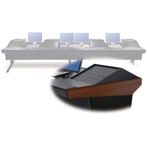 "Argosy V4RGE Universal Workstation Desk with Four VR1000 10 Upper Rack Module (Mahogany, 179"")"
