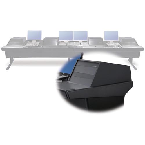 """Argosy V4RGE Universal Workstation Desk with Four VR1005 10U Front, 5U Rear Module (Black, 179"""")"""