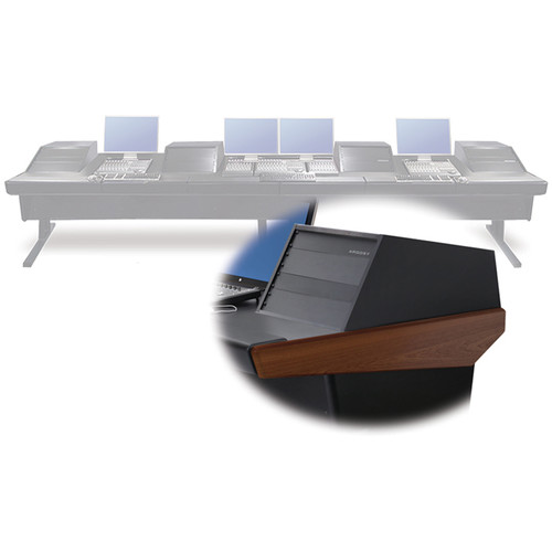 "Argosy V4RGE Universal Workstation Desk with Four VR1005 10U Front, 5U Rear Module (Mahogany, 179"")"