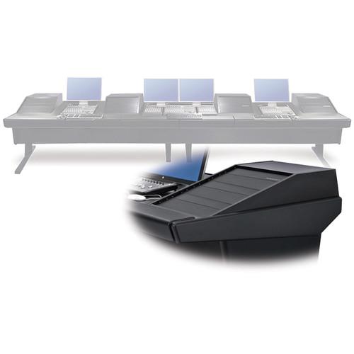 "Argosy V4RGE Universal Workstation Desk with Four VR1503 15U Upper, 3U Rear Module (Black, 179"")"