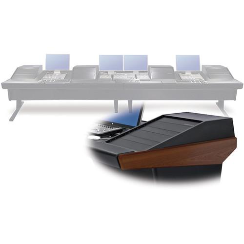 """Argosy V4RGE Universal Workstation Desk with Four VR1503 15U Upper, 3U Rear Module (Mahogany, 179"""")"""