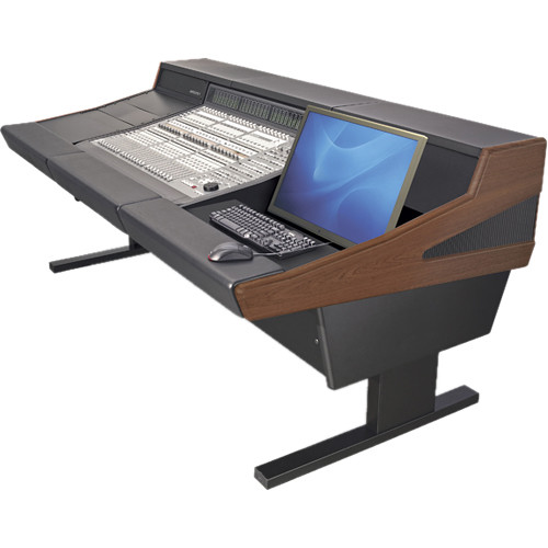 Argosy 90 Series Workstation Desk for Digidesign C|24 Controller with Two Monitor Inserts (Mahogany)