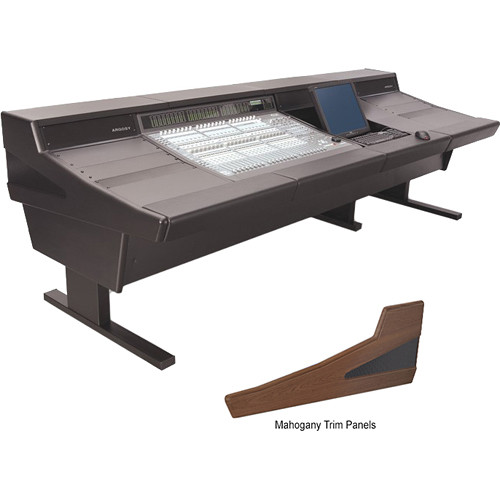 Argosy 90 Series Workstation Desk for Digidesign C|24 Controller with Two Rack Units & Monitor Insert (Mahogany)