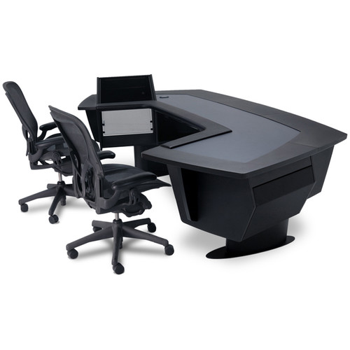 Argosy Aura 520 Personal Workstation Desk with 11 RU Space, Upper Left