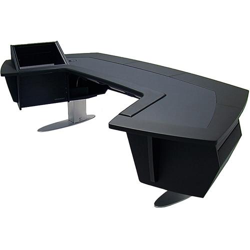 Argosy Aura 520 Personal Workstation Desk with 11 RU Space, Upper Left