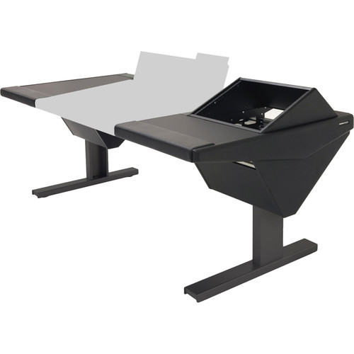 Argosy Eclipse Console for S6 - 5 Bucket Wide, with Desks (L) and Rack (R) (Black)
