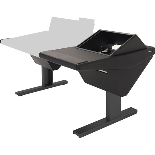 Argosy Eclipse Console for S6 - 5 Bucket Wide, with Nothing (L) and Rack (R) (Black)