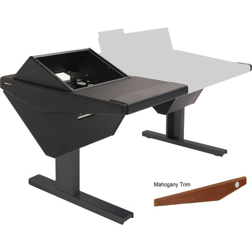 Argosy Eclipse Console for S6 - 5 Bucket Wide, with Rack (L) and Nothing (R) (Mahogany)