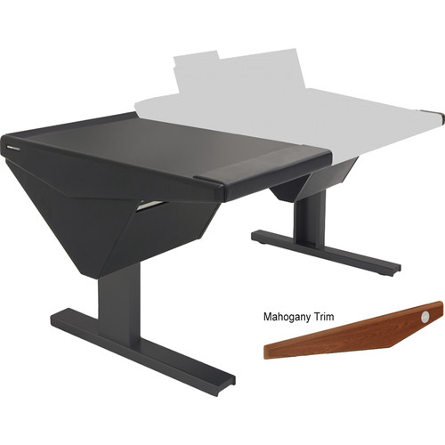 Argosy Eclipse Console for S6 - 6 Bucket Wide, with Desk (L) and Nothing (R) (Mahogany)