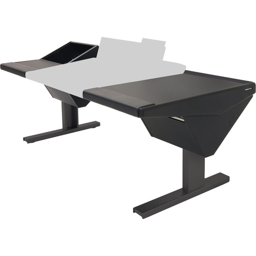 Argosy Eclipse Console for S6 - 6 Bucket Wide, with Rack (L) and Desk (R) (Black)