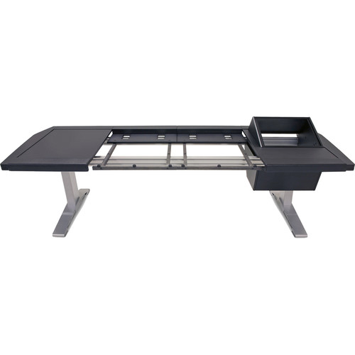 Argosy Eclipse Small Console Workspace for Yamaha Nuage Workstation with Left Desk Surface, Right 8 RU Rack, and 1 Master/1 Fader (Black Trim)