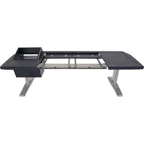 Argosy Eclipse Large Console Workspace for Yamaha Nuage Workstation with Left 8 RU Rack, Right Desk Surface, and 1 Master/2 Faders (Black Trim)