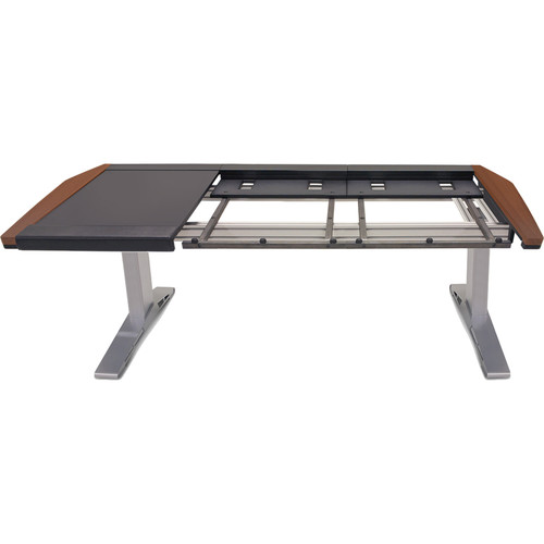 Argosy Eclipse Large & Small Workspace for Yamaha Nuage Workstation with Left Desk Surface and 1 Master/2 Faders (Mahogany Trim)