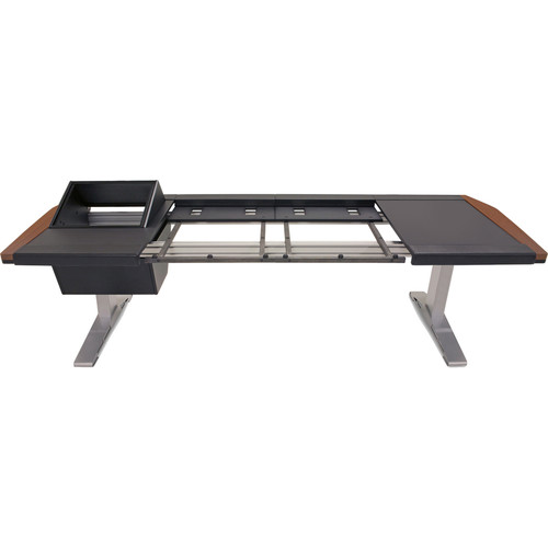 Argosy Eclipse Large & Small Workspace for Yamaha Nuage Workstation with Left 8 RU Rack, Right Desk Surface, and 1 Master/2 Faders (Mahogany Trim)