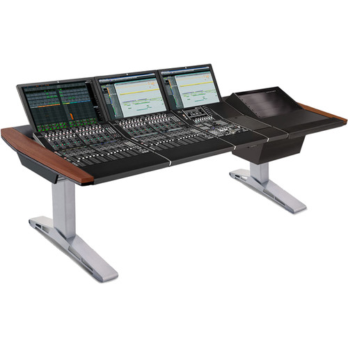 Argosy Eclipse Small Workspace for Yamaha Nuage Workstation with Right 8 RU Rack and 1 Master/2 Faders (Mahogany)