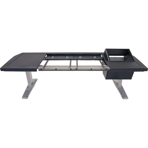 "Argosy Eclipse 2-Bucket Console Workspace for Avid S6 Workstation with Left Side Desk Surface and Right Side 8 RU Black, (53"")"