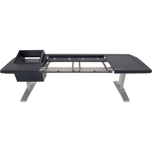 """Argosy Eclipse 2-Bucket Console Workspace for Avid S6 Workstation with Left Side 8 RU and Right Side Desk Surface Black, (53"""")"""