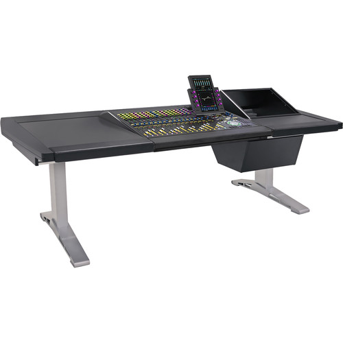 "Argosy Eclipse 3-Bucket Console Workspace for Avid S6 Workstation with Left Side Desk Surface and Right Side 8 RU (Black, 92.8"")"
