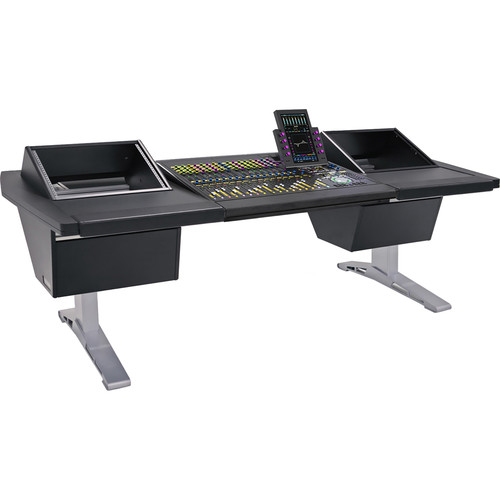 "Argosy Eclipse 3-Bucket Console Workspace for Avid S6 Workstation with Left and Right Side 8 RU (Black, 92.8"")"