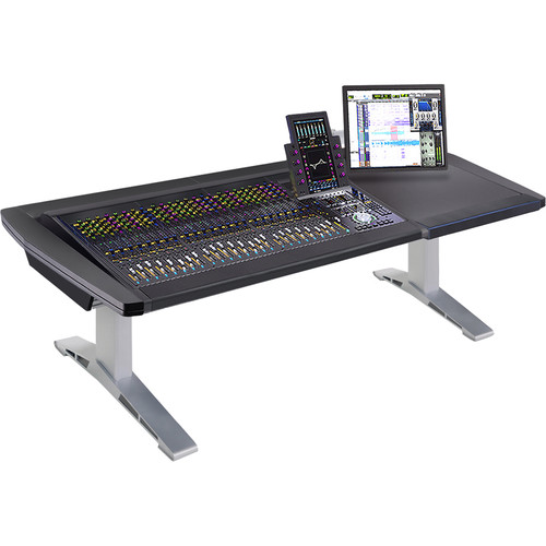 """Argosy Eclipse 4-Bucket Console Workspace for Avid S6 Workstation with Right Side Desk Surface (Black, 81.7"""""""")"""