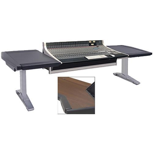 Argosy Eclipse for SSL AWS Delta 924/948, Desk On Left & Right, Mahogany End Panels, Silver Legs