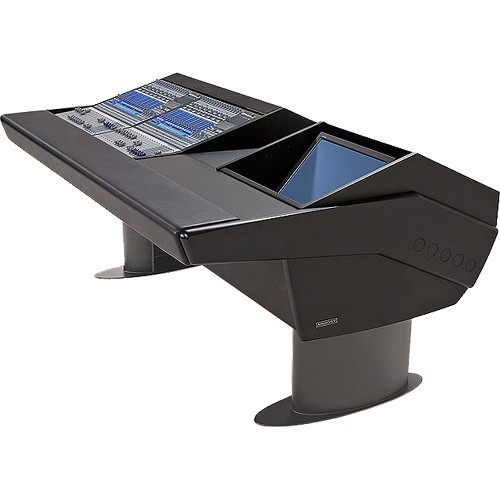 Argosy G20 Desk for Two Presonus StudioLive 16.4.2 Workstations Workstations with Monitor Bay (Black Finish, Gunmetal Grey Legs)
