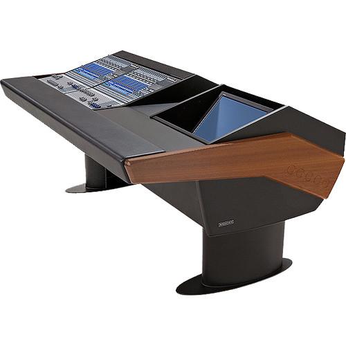 Argosy G20 Desk for Two Presonus StudioLive 16.4.2 Workstations with Monitor Bay (Mahogany Finish, Black Legs)
