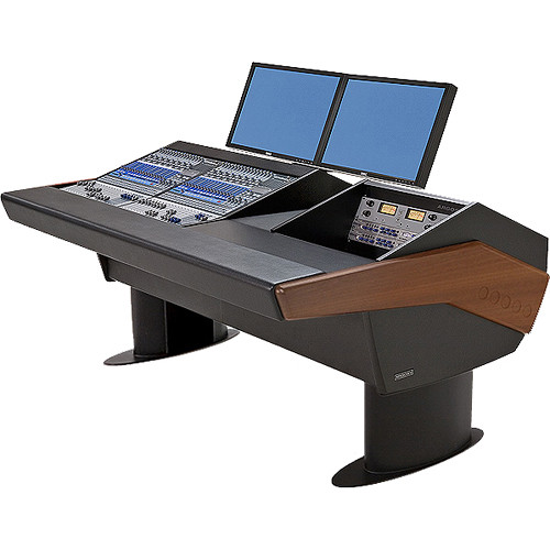 Argosy G20 Desk for Two Presonus StudioLive 16.4.2 Workstations with 6 RU (Mahogany Finish, Black Legs)