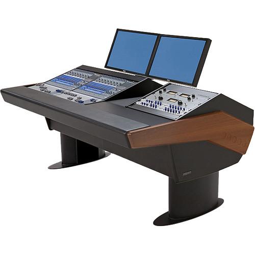 Argosy G20 Desk for Two Presonus StudioLive 16.4.2 Workstations with 9 RU (Mahogany Finish, Black Legs)