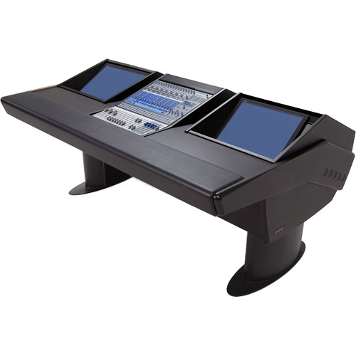 Argosy G20 Desk for Presonus StudioLive 16.4.2 Workstations with Dual Monitor Bay (Black Finish, Black Legs)