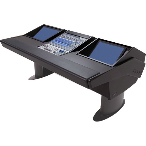 Argosy G20 Desk for Presonus StudioLive 16.4.2 Workstations with Dual Monitor Bay (Black Finish, Gunmetal Grey Legs)