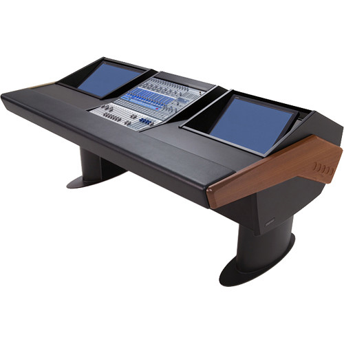 Argosy G20 Desk for Presonus StudioLive 16.4.2 Workstations with Dual Monitor Bay (Mahogany Finish, Black Legs)