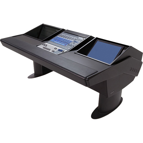 Argosy G20 Desk for Presonus StudioLive 16.4.2 Workstations with 6 RU and Monitor Bay (Black Finish, Black Legs)