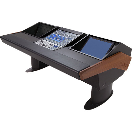 Argosy G20 Desk for Presonus StudioLive 16.4.2 Workstation with 6 RU and Monitor Bay (Mahogany Finish, Black Legs)