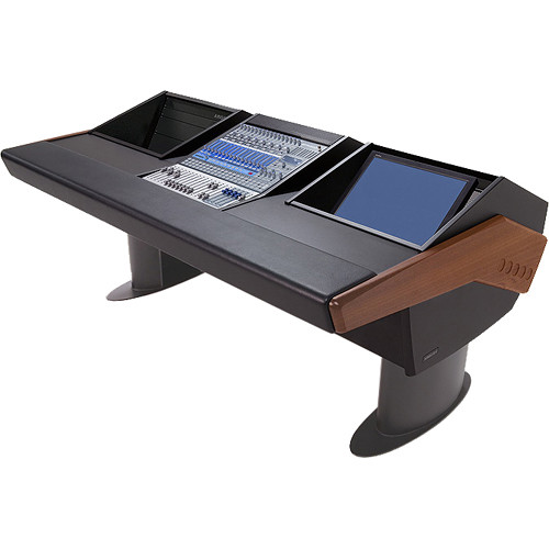 Argosy G20 Desk for Presonus StudioLive 16.4.2 Workstation with 6 RU and Monitor Bay (Mahogany Finish, Gunmetal Grey Legs)