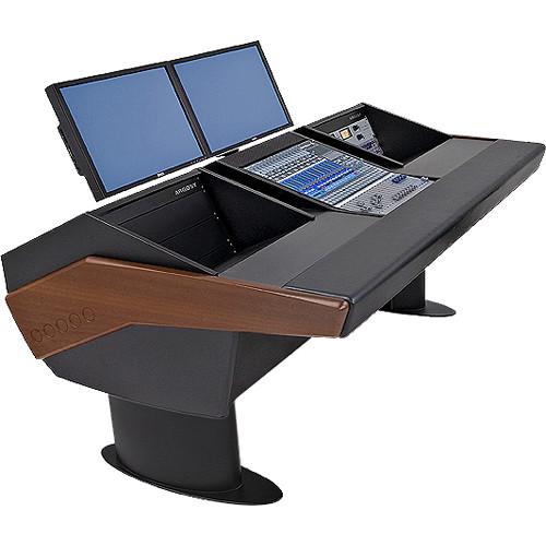 Argosy G20 Desk for Presonus StudioLive 16.4.2 Workstations with Dual 6 RU (Mahogany Finish, Black Legs)