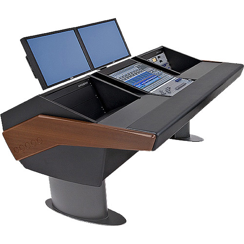 Argosy G20 Desk for Presonus StudioLive 16.4.2 Workstations with Dual 6 RU (Mahogany Finish, Gunmetal Grey Legs)